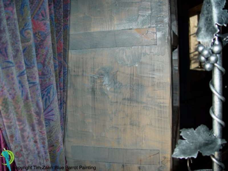 Decorative Painting: Aged Weathered Wood by Tim Zaerr at Joe and Pam Cockers Mad Dog Ranch