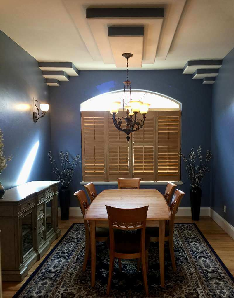 Precision Lines: Specialty Painting by Jennifer Zaerr, Blue Parrot Painting in Dining Room