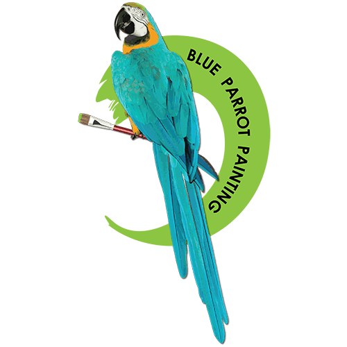 Blue Parrot Painting Logo
